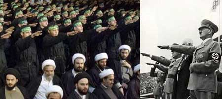 Jihadis Islam dengan gaya hormat ala NAZI Hitler
